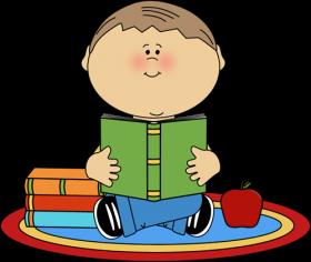 School reading. Children clipart